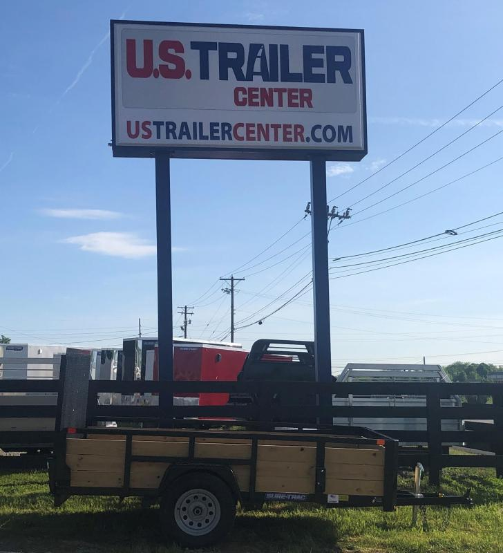 2019 Sure-Trac 6 X 10 Tube Top Three Board UTILITY TRAILER LAWN CARE LANDSCAPE TRAILER SINGLE AXLE