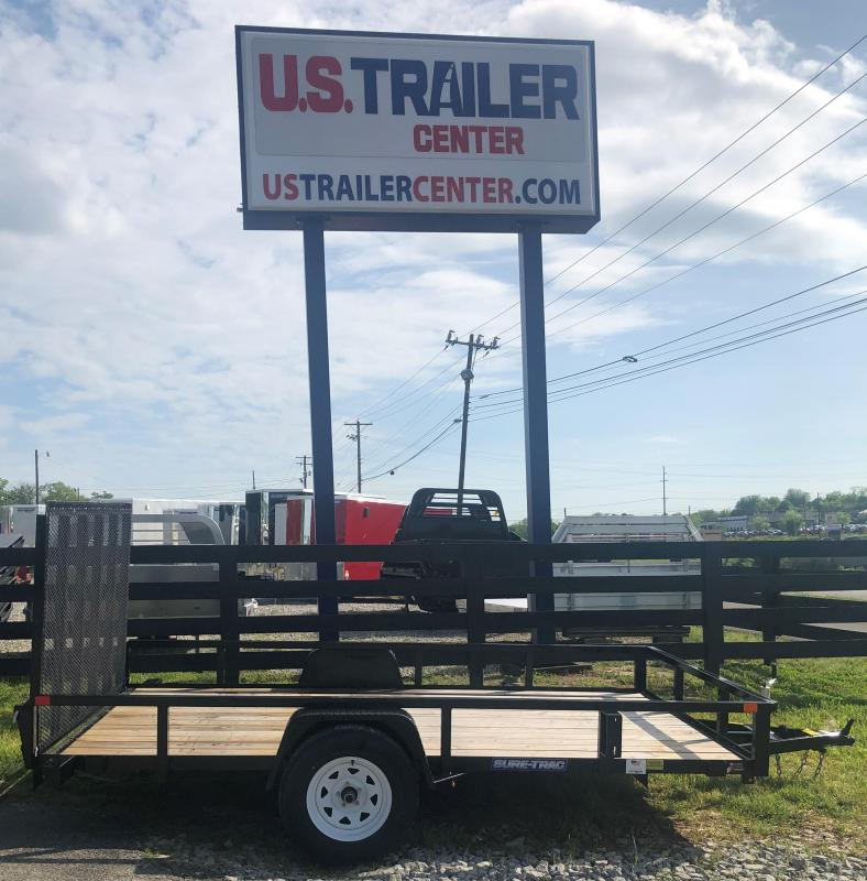 2019 Sure-Trac 7 X 12 Tube Top Utility 3500 POUND AXLE NO BRAKES