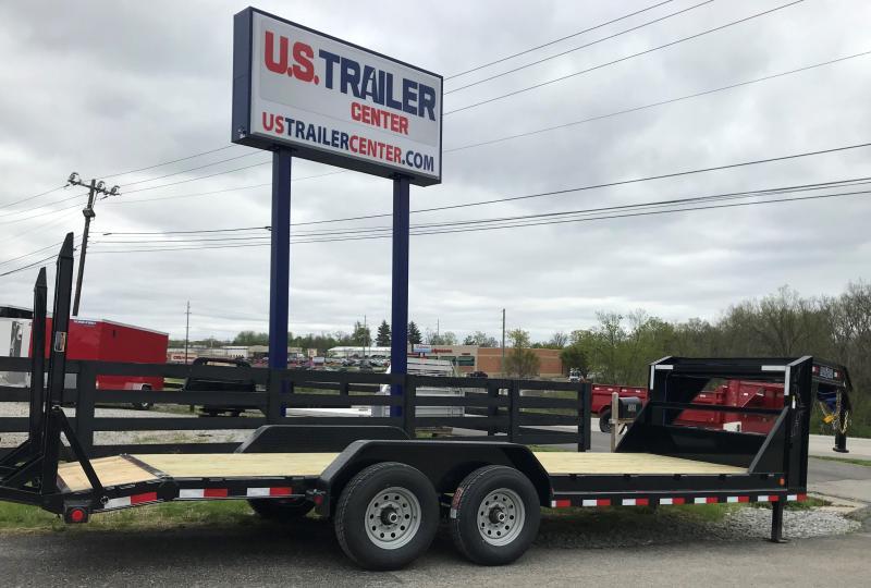 "2019 Load Trail 83"" X 20' Tandem Gooseneck EQUIPMENT TRAILER GOOSENECK CAR HAULER"