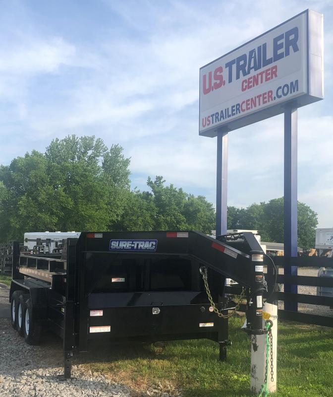 2019 Sure-Trac 82 IN X 16 Low Profile Telescopic Gooseneck dump trailer
