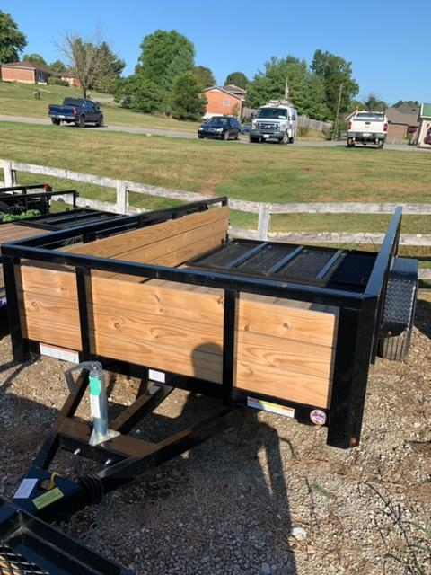 2019 Sure-Trac 10' 3 board SINGLE AXLE Utility Trailer