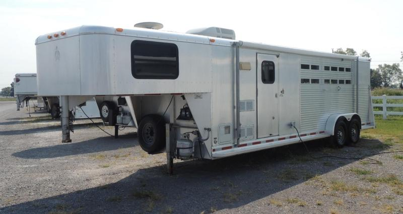 2001 Adam Stock Combo Living Quarter Horse Trailer