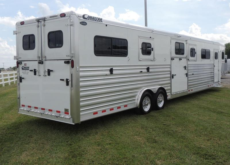 2020 Cimarron Trailers 6 Horse Head to Head Deluxe PKG Horse Trailer