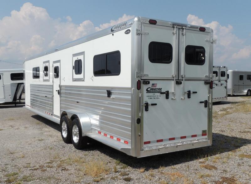 2020 Cimarron Trailers 4 Horse Head to Head -- 8' Tall! Horse Trailer
