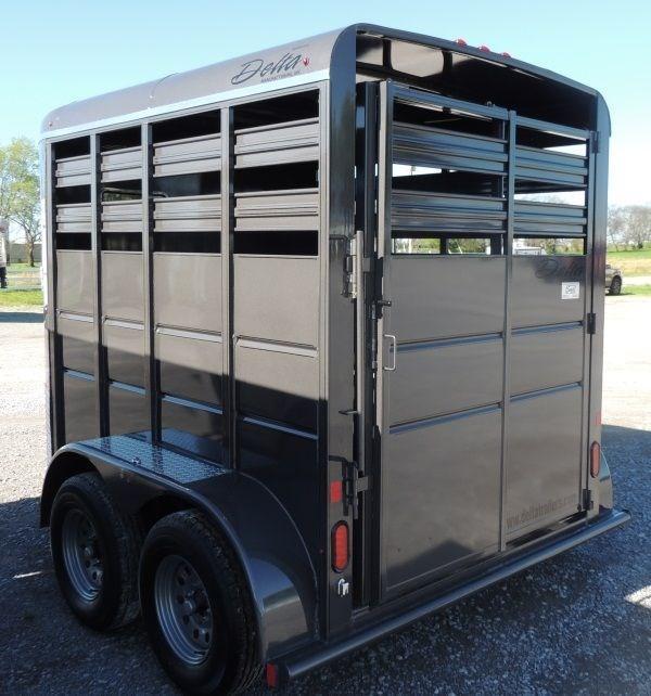 2020 Delta 500 Series 10 x 7 Tall Livestock Trailer