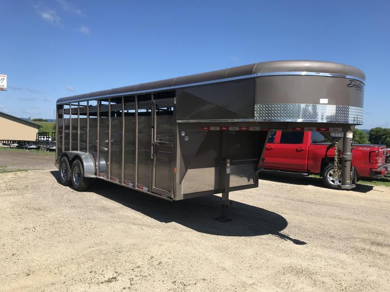 "2019 Delta Manufacturing 6'8""X20 Gooseneck Livestock Trailer"