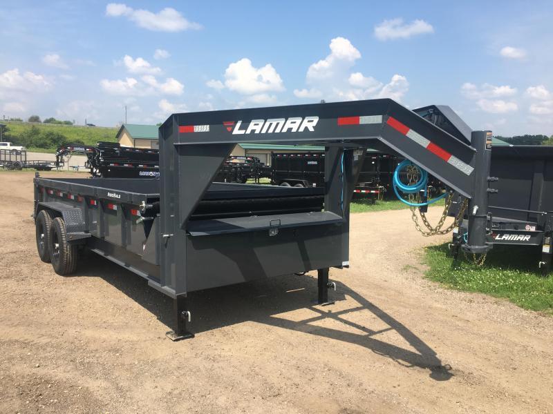 2019 Lamar Trailers 83X16 Gooseneck Dump Trailer in Ashburn, VA