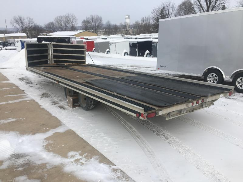 1995 Aluma 102X20 4 Place Snowmobile Trailer
