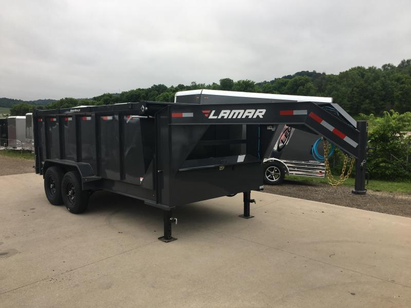 2019 Lamar Trailers 83X14 Gooseneck Dump Trailer in Ashburn, VA