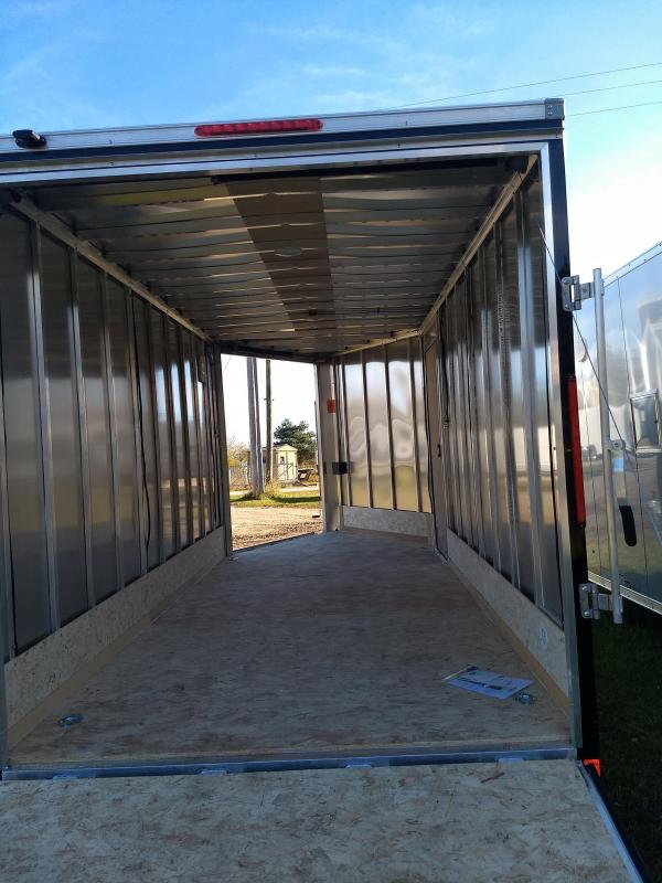 New 2018 Look 7x19 Enclosed 2 Place Snowmobile Trailer W/Extra Height