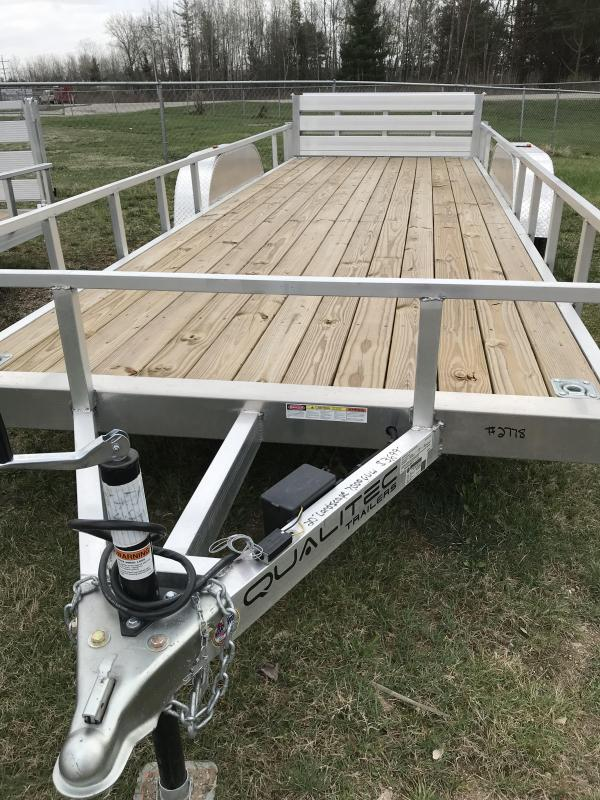 2019 H and H Trailer Aluminum  Utility Trailer With Bifold