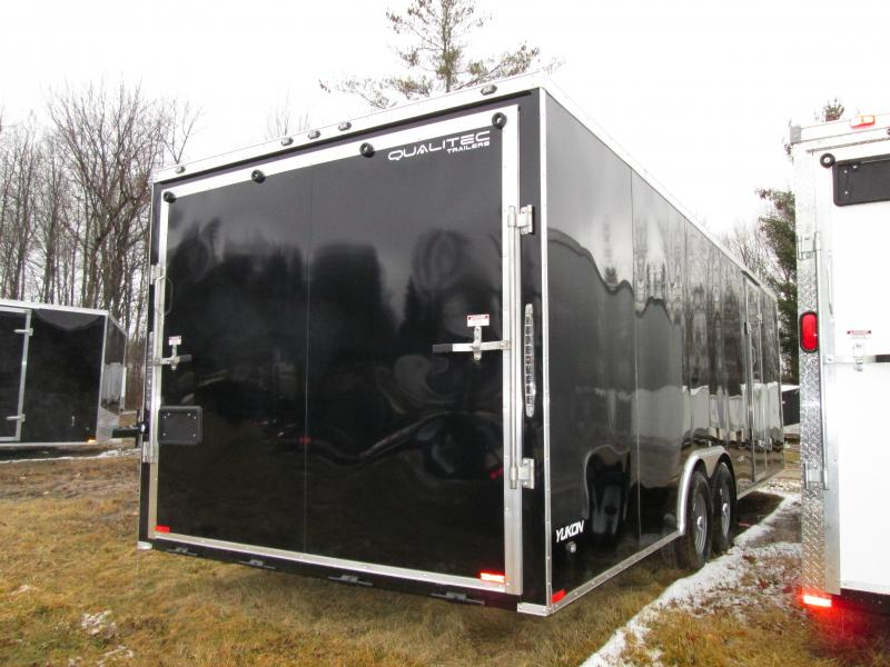 2019 Qualitec 8.5 x 24 Black Ramp Car / Racing Trailer