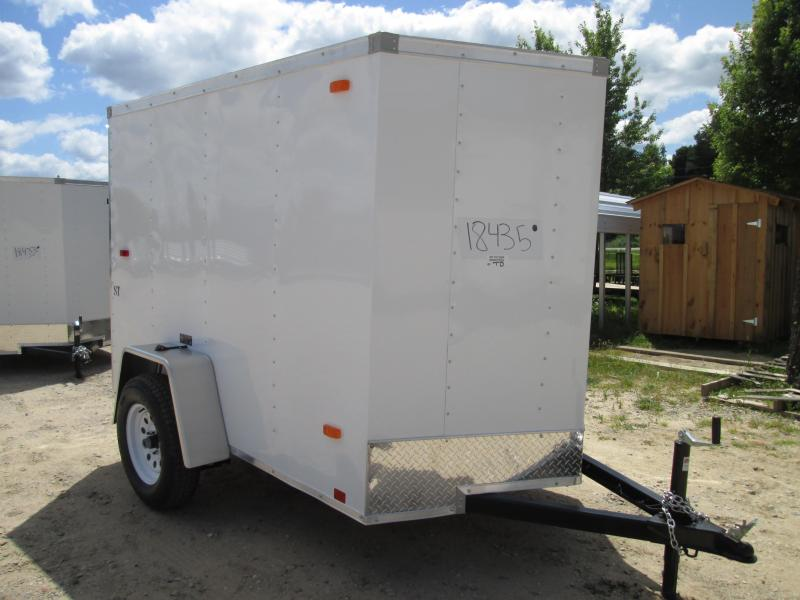 2019 Look Trailers 5X8 W Rear Door Enclosed Cargo Trailer