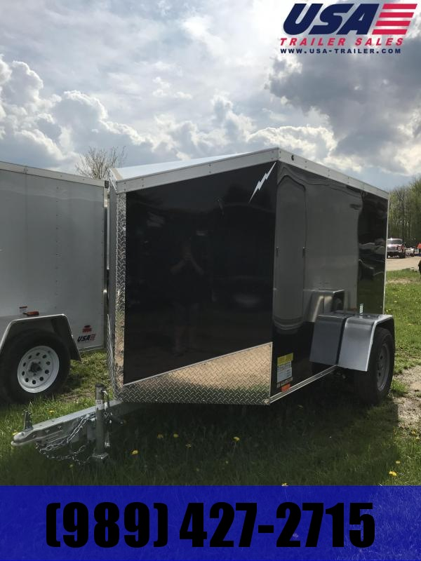 2019 Lightning Trailers 5x8 Black Swing Door Enclosed Cargo Trailer