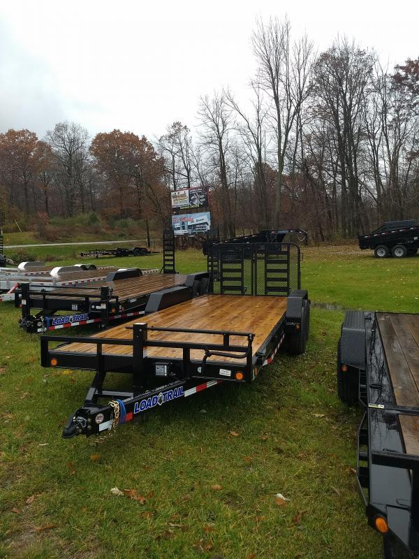 New 20' 14k Load Trail Equipment Trailer W/ Rear Drop Gate Michigan's #1 Selling Brand Of Trailer