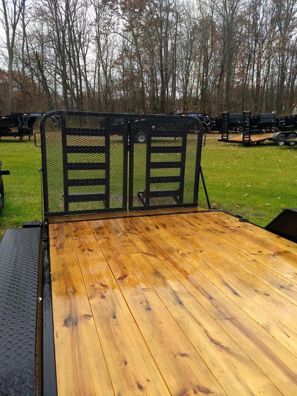 New 20' 14k Load Trail Equipment Trailer W/ Rear Drop Gate Michigan's #1 Selling Brand Of Trailer