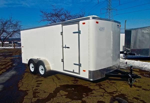2019 Look Trailers 7x14 white ramp door Enclosed Cargo Trailer