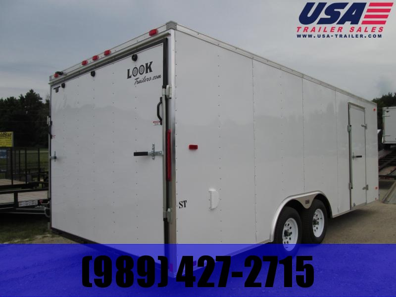 2019 Look Trailers 7x14 white ramp door Enclosed Cargo Trailer