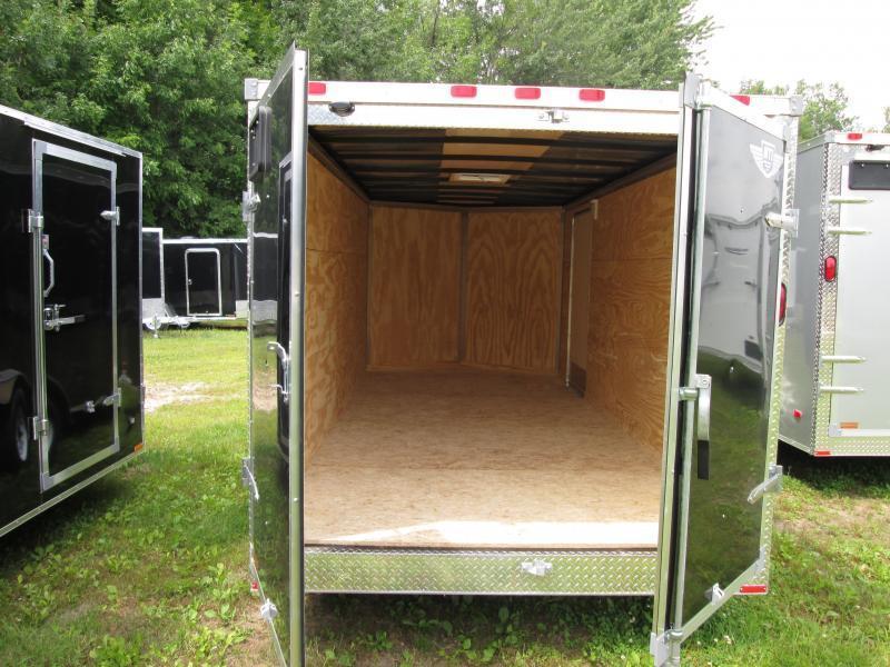2020 MTI Trailers 7x16 Black Barn Enclosed Cargo Trailer