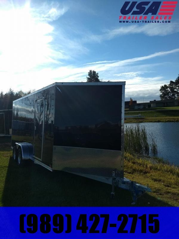 New 7 x 19 Tow Place V-Nose Snowmobile Trailer Extra Height