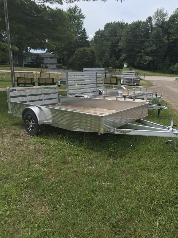 2018 H and H Trailer Aluminum With Aluminum Sides Utility Trailer