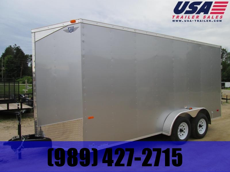2019 MTI Trailers 7x16 Ramp Enclosed Cargo Trailer added Height
