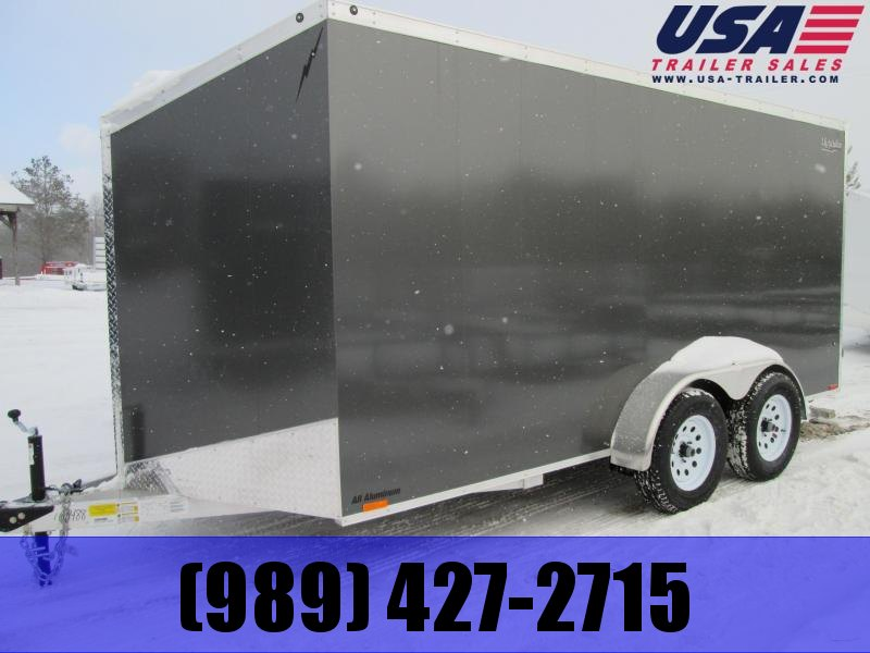 2019 Lightning Trailers 7x14 Silver Ramp Enclosed Cargo Trailer