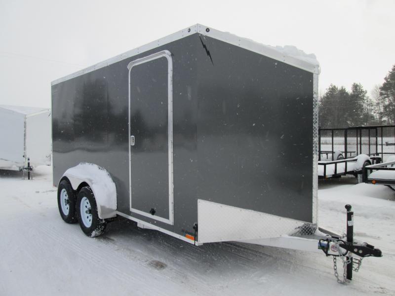 2019 Lightning Trailers 7x14 Silver Ramp Enclosed Cargo Trailer
