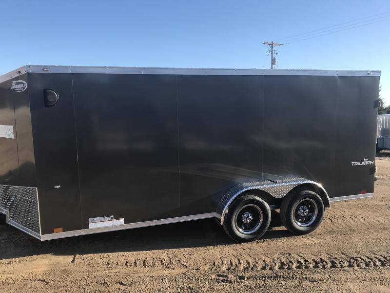 2020 Formula Trailers 7X16 RAMP CHARCOAL Enclosed Cargo Trailer