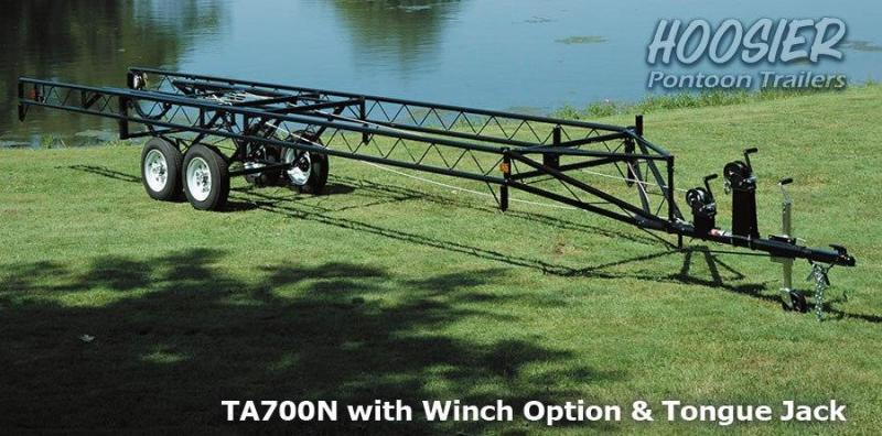 Hoosier 16-20ft Pontoon Trailer - Crank-up Style - Single Axle