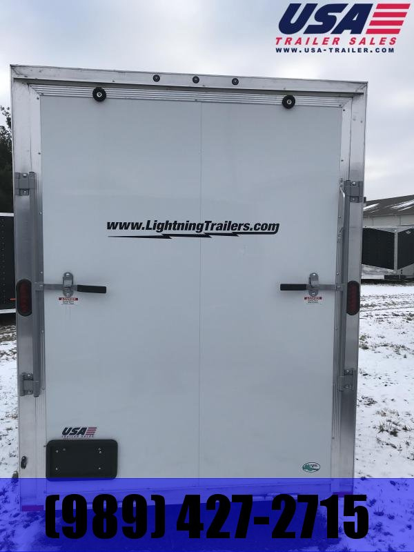 2018 Lightning Trailers 6x12 White Ramp Enclosed Cargo Trailer