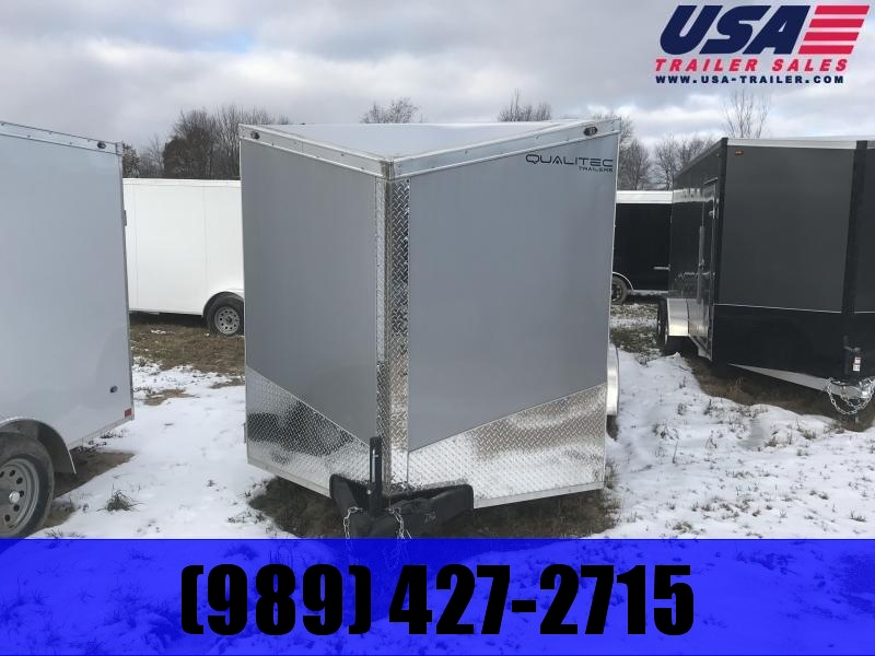 2019 Qualitec 7x14 Silver Ramp Enclosed Cargo Trailer