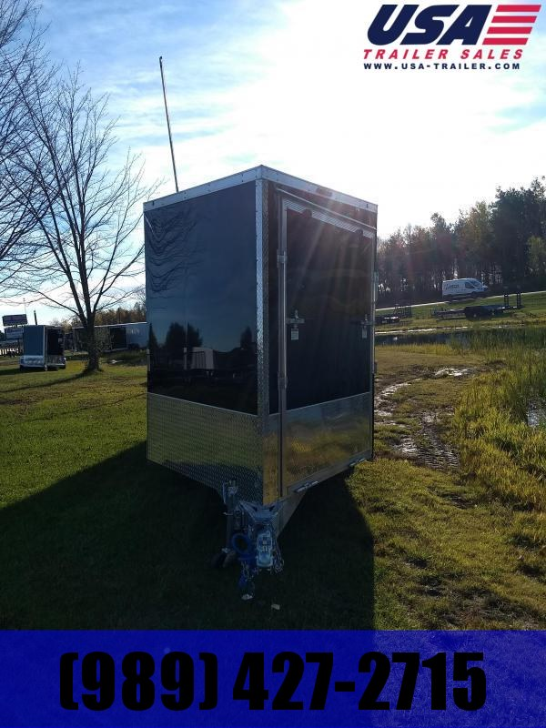 New 7 x 29 4 Place V-Nose Snowmobile Trailer