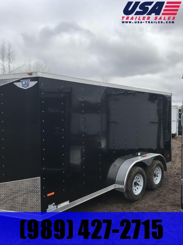 2019 MTI Trailers 7x14 Black Barn Doors Enclosed Cargo Trailer