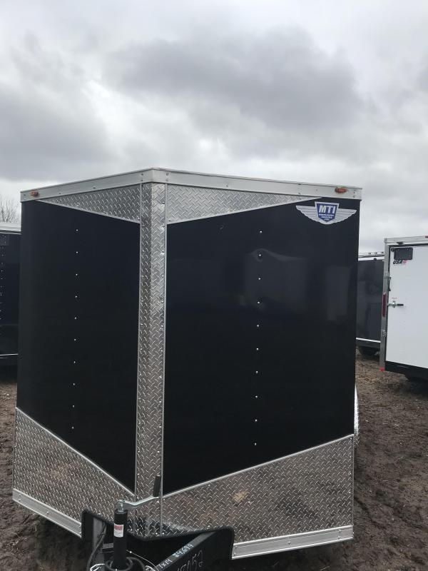 2019 MTI Trailers 7x14 Black Barn Doors Enclosed Cargo Trailer