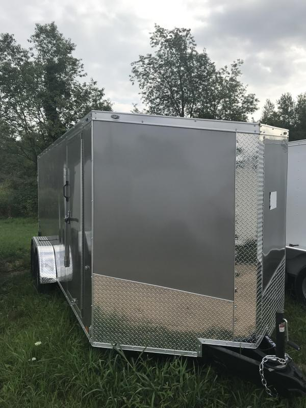 2019 MTI Trailers 7x12 Charcoal Enclosed Cargo Trailer