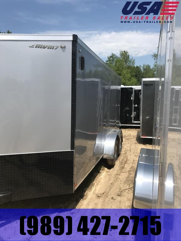 2018 MVM7 7x16 silver ramp Enclosed Cargo Trailer