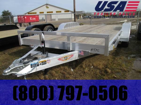 2018 H and H Trailer Aluminum  Car / Racing Trailer