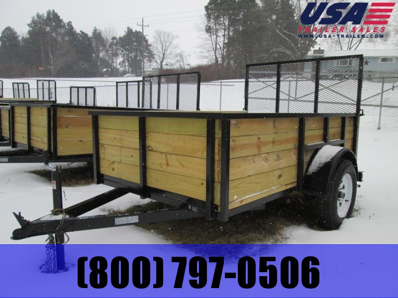 2018 GoldStar 5x10  Wood sided Landscape Tube Steel Utility Trailer