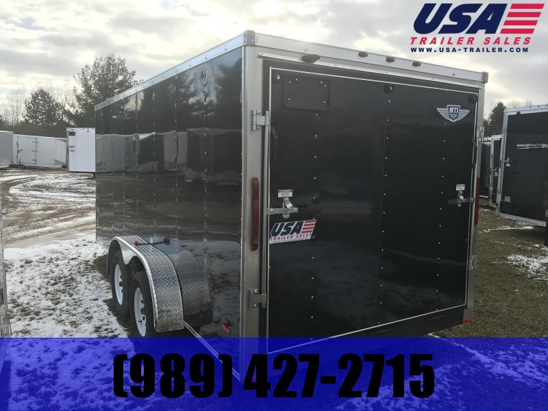 2018 MTI Trailers 7x16 Black Ramp Enclosed Cargo Trailer