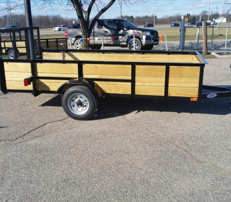 5 x 10 A.M.O. Landscape Light Duty Wood Side Trailer