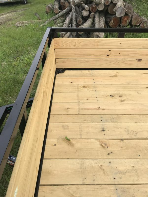 H and H Trailer 82x12 Wood Side Aluminum Utility Trailer