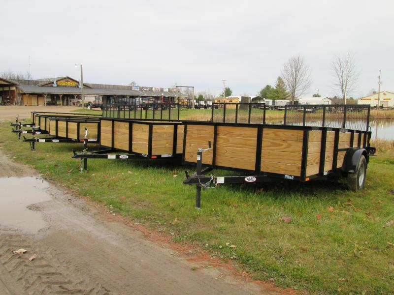 2018 GoldStar 6x14  Wood sided Landscape Tube Steel Utility Trailer