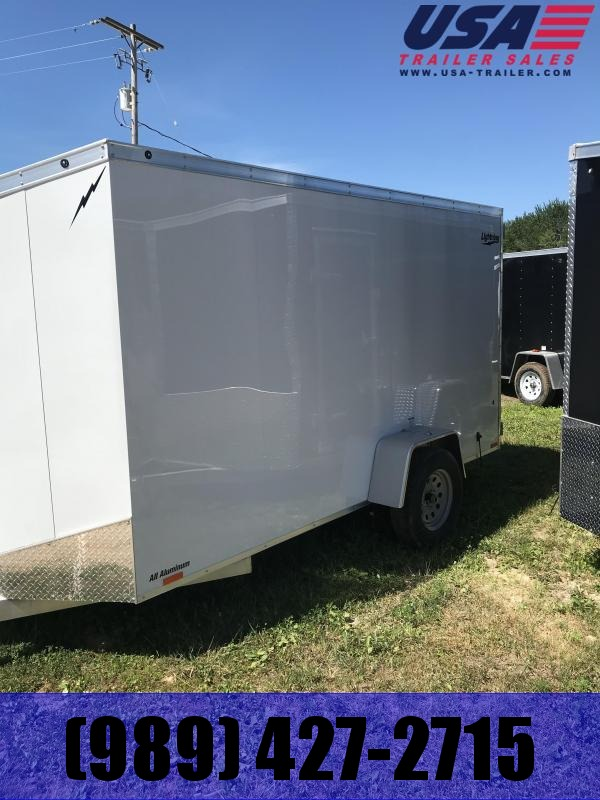 2018 Lightning Trailers 6x12 White Enclosed Cargo Trailer