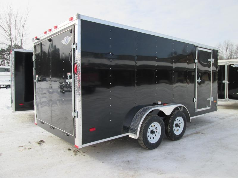 2019 MTI Trailers 7x14 Black Ramp Door Enclosed Cargo Trailer