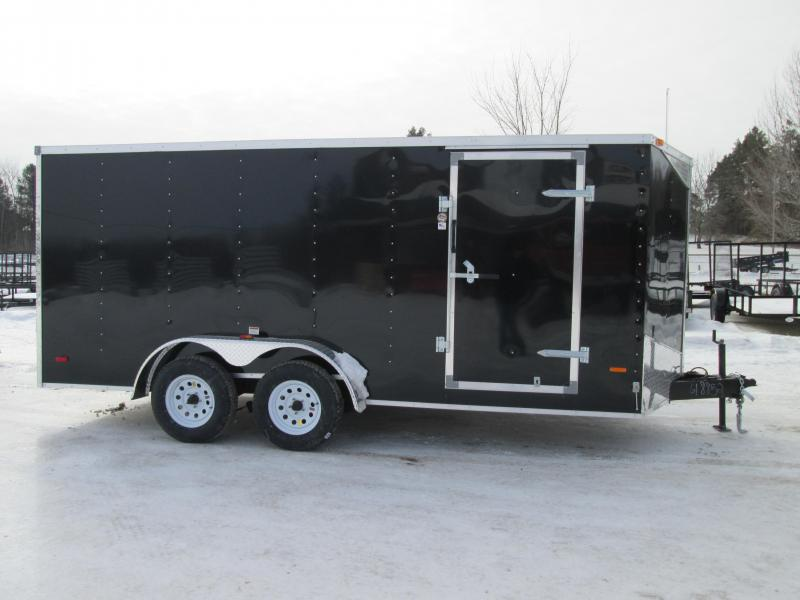 2019 MTI Trailers 7x14 Black Ramp Door Enclosed Cargo Trailer