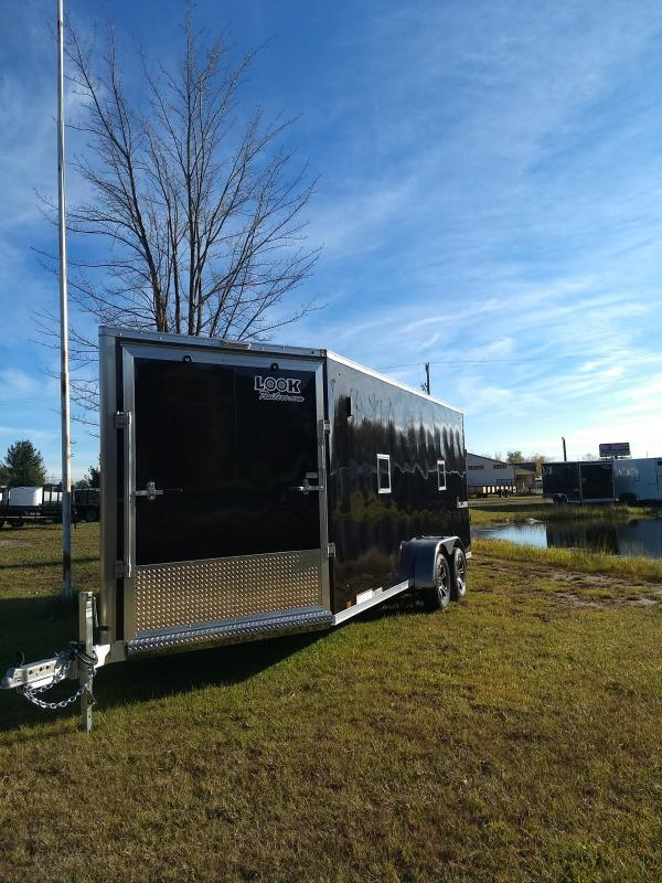 New 7X23 Enclosed 3 Place Snowmobile Trailer