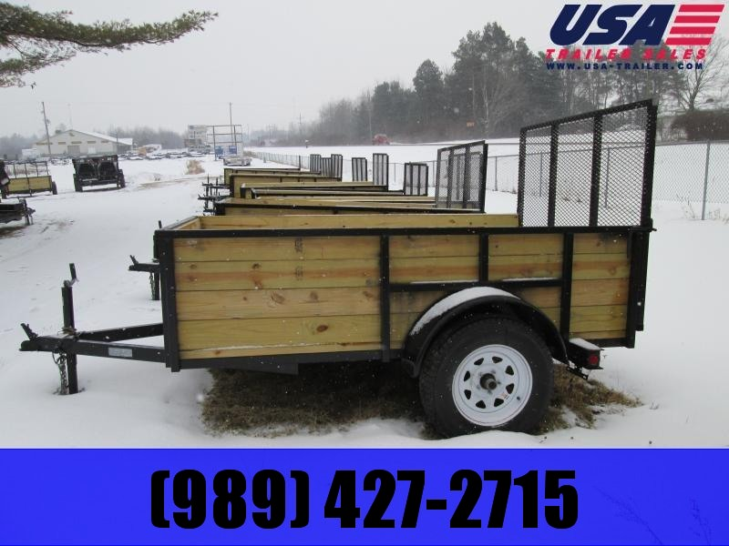 Gold Star 5x8 Wood Side Tube Utility Trailer