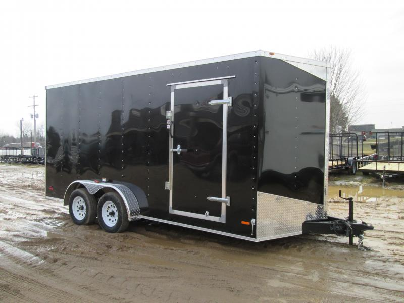 2019 MTI Trailers 7x14 Black Ramp 12 Height Enclosed Cargo Trailer