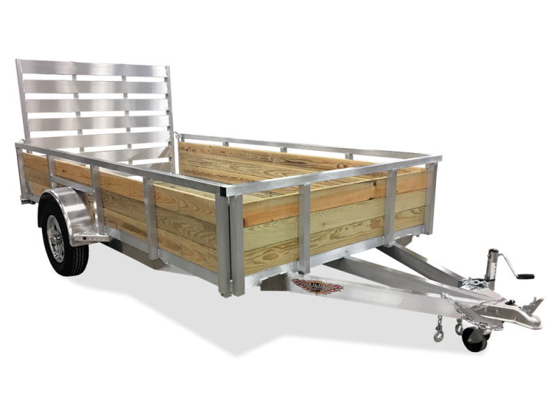 2018 H and H Trailer 82x12 Wood Side Aluminum Utility Trailer